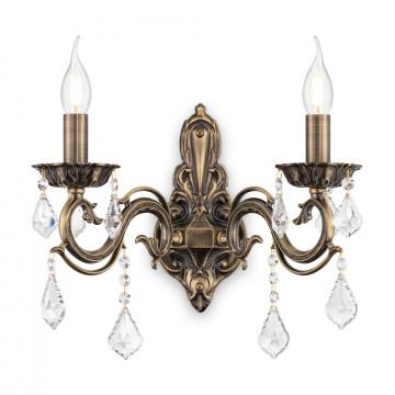 Бра Maytoni Bronze RC245-WL-02-R (arm245-02-r), 2xE14x60W, бронза, прозрачный, металл, стекло - миниатюра 3