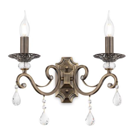 Бра Maytoni Grace RC247-WL-02-R (ARM247-02-R), 2xE14x60W, бронза, прозрачный, металл, хрусталь