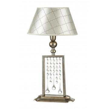 Настольная лампа Maytoni Bience H018-TL-01-NG (dia018-11-ng), 1xE14x40W, серебро, бежевый, прозрачный, металл, текстиль, стекло