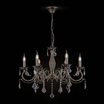 Подвесная люстра Maytoni Bronze RC245-PL-06-R (arm245-06-r), 6xE14x60W, бронза, прозрачный, металл, стекло