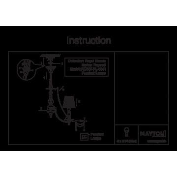 Схема с размерами Maytoni RC305-PL-03-R