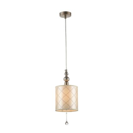 Подвесной светильник Maytoni Bience H018-PL-01-NG (dia018-22-ng), 1xE14x40W, серебро, бежевый, прозрачный, металл, текстиль, стекло
