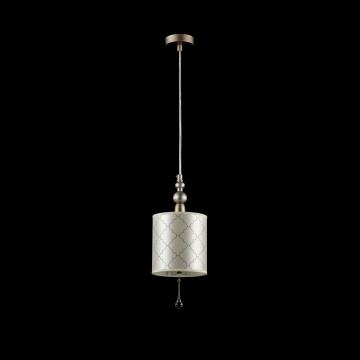Подвесной светильник Maytoni Bience H018-PL-01-NG (dia018-22-ng), 1xE14x40W, серебро, бежевый, прозрачный, металл, текстиль, хрусталь - миниатюра 2