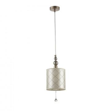 Подвесной светильник Maytoni Bience H018-PL-01-NG (dia018-22-ng), 1xE14x40W, серебро, бежевый, прозрачный, металл, текстиль, хрусталь - миниатюра 3