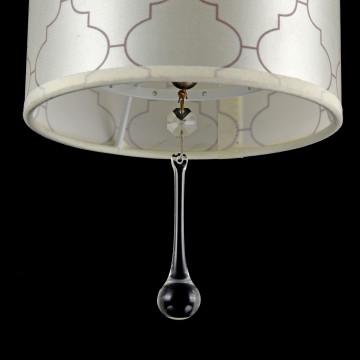 Подвесной светильник Maytoni Bience H018-PL-01-NG (dia018-22-ng), 1xE14x40W, серебро, бежевый, прозрачный, металл, текстиль, хрусталь - миниатюра 5