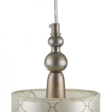 Подвесной светильник Maytoni Bience H018-PL-01-NG (dia018-22-ng), 1xE14x40W, серебро, бежевый, прозрачный, металл, текстиль, хрусталь - миниатюра 7