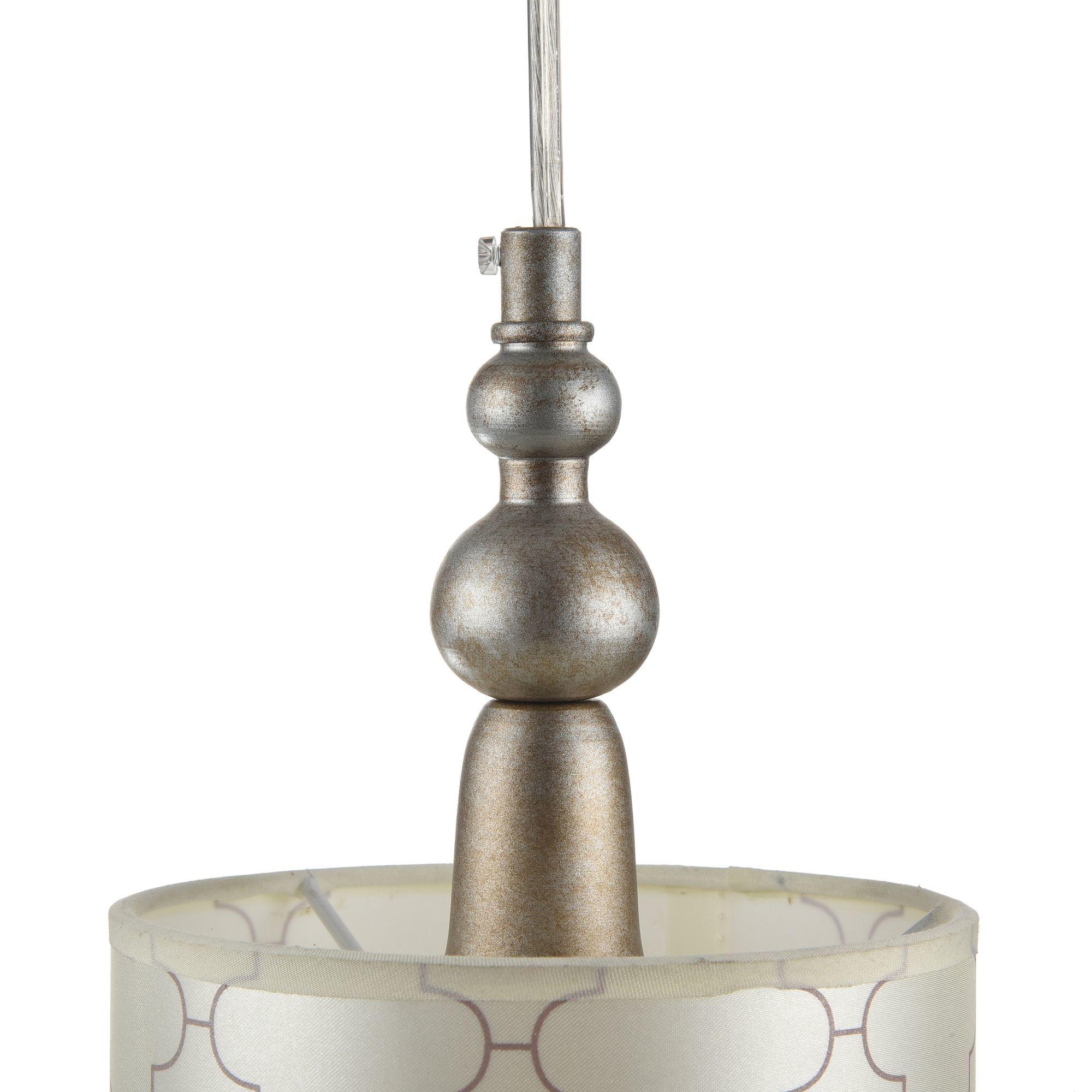 Подвесной светильник Maytoni Bience H018-PL-01-NG (dia018-22-ng), 1xE14x40W, серебро, бежевый, прозрачный, металл, текстиль, хрусталь - фото 7
