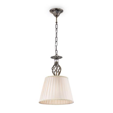 Подвесной светильник Maytoni Grace RC247-PL-01-R (ARM247-PL-01-R), 1xE14x60W, бронза, бежевый, металл, текстиль