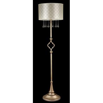 Торшер Maytoni Bience H018-FL-01-NG (dia018-00-ng), 1xE27x40W, серебро, бежевый, прозрачный, металл, текстиль, стекло - миниатюра 2
