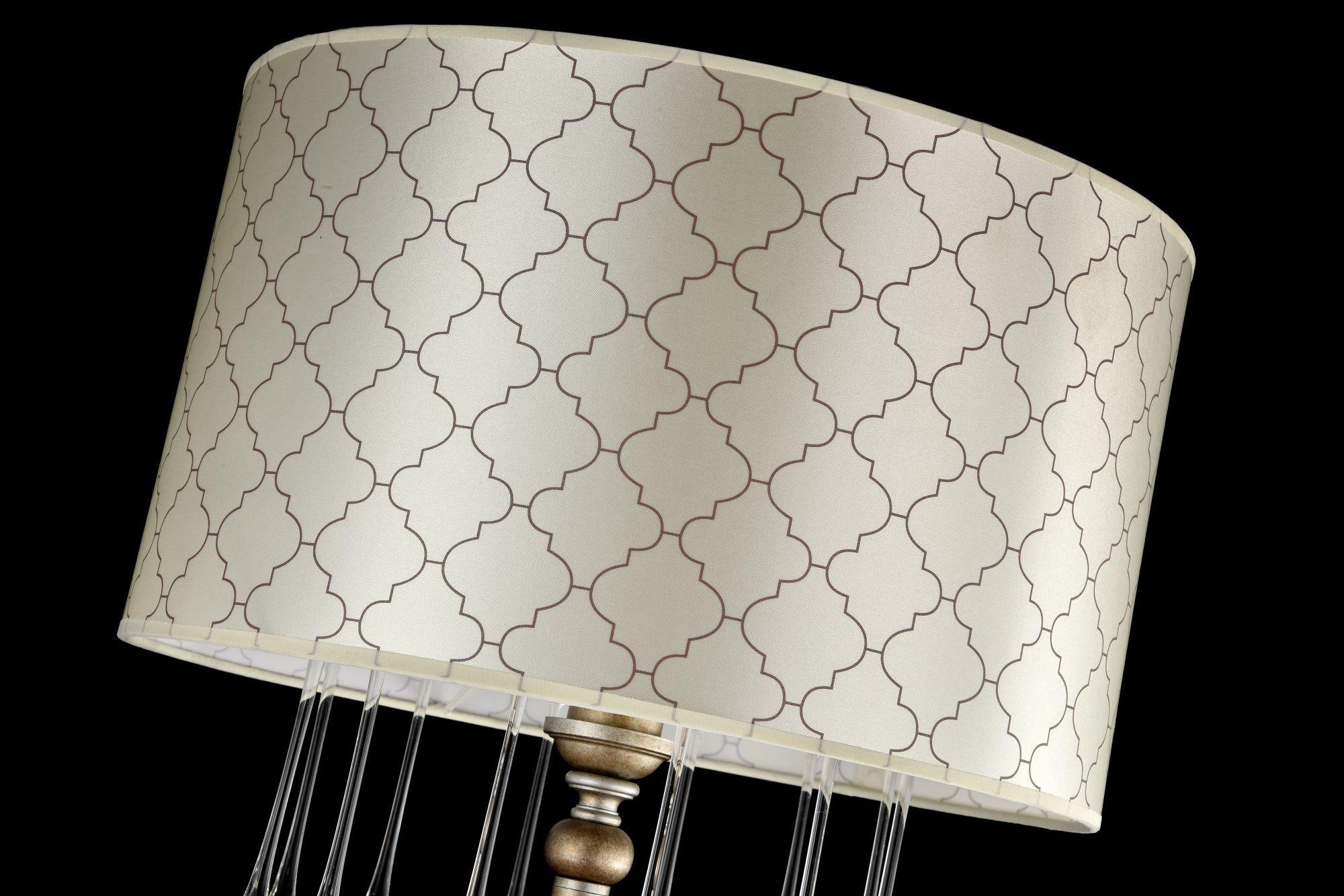 Торшер Maytoni Bience H018-FL-01-NG (dia018-00-ng), 1xE27x40W, серебро, бежевый, прозрачный, металл, текстиль, стекло - фото 5