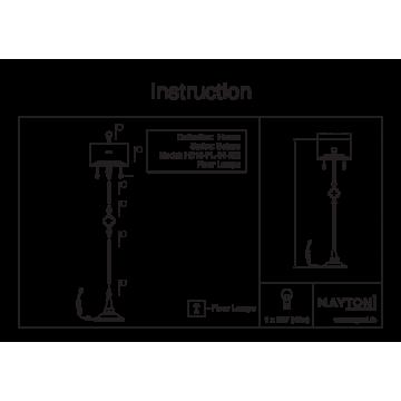 Схема с размерами Maytoni H018-FL-01-NG