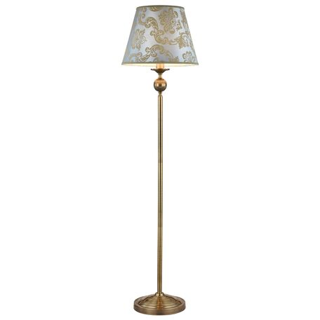 Торшер Maytoni Royal Classic Vals RC098-FL-01-R (ARM098-11-R), 1xE27x40W, бронза, голубой, металл, текстиль