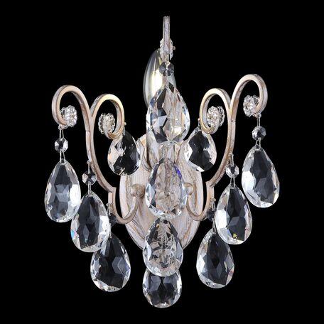 Бра Freya Veronica FR1002WL-01WG, 1xE14x40W, белый с золотой патиной, прозрачный, металл, стекло