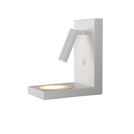 Настенный светодиодный светильник с регулировкой направления света с полкой Mantra Zanzibar 6750, LED 3W 3000K 210lm, белый, металл
