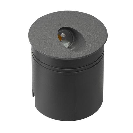 Встраиваемый настенный светодиодный светильник Mantra Aspen 7021, IP65, LED 3W 3000K 210lm, серый, металл