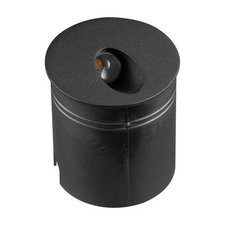 Встраиваемый настенный светодиодный светильник Mantra Aspen 7022, IP65, LED 3W 3000K 210lm, черный, металл