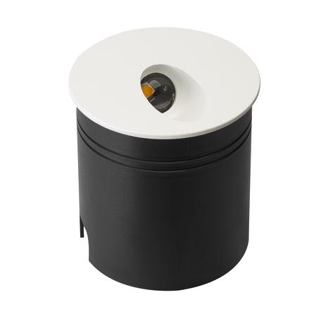 Встраиваемый настенный светодиодный светильник Mantra Aspen 7023, IP65, LED 3W 3000K 210lm, белый, металл