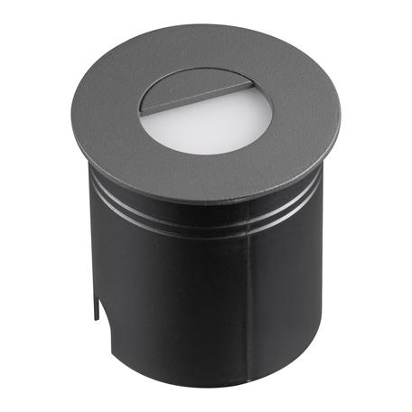Встраиваемый настенный светодиодный светильник Mantra Aspen 7027, IP65, LED 3W 3000K 210lm, серый, металл