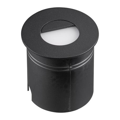 Встраиваемый настенный светодиодный светильник Mantra Aspen 7028, IP65, LED 3W 3000K 210lm, черный, металл