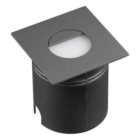 Встраиваемый настенный светодиодный светильник Mantra Aspen 7030, IP65, LED 3W 3000K 210lm, серый, металл