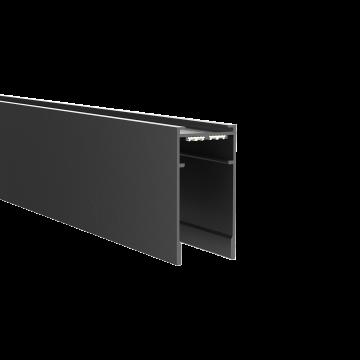Магнитный шинопровод Ideal Lux ARCA PROFILE 1000 mm 222745, черный, металл