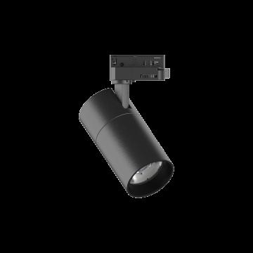 Светодиодный светильник с регулировкой направления света для шинной системы Ideal Lux QUICK 15W CRI80 30° 3000K BK ON-OFF 222523 (QUICK 15W CRI80 30° 3000K BLACK), LED 15W 3000K 1700lm, черный, металл
