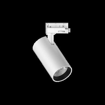 Светодиодный светильник с регулировкой направления света для шинной системы Ideal Lux QUICK 15W CRI80 30° 4000K WH ON-OFF 222530 (QUICK 15W CRI80 30° 4000K WHITE), LED 15W 4000K 1800lm, белый, металл