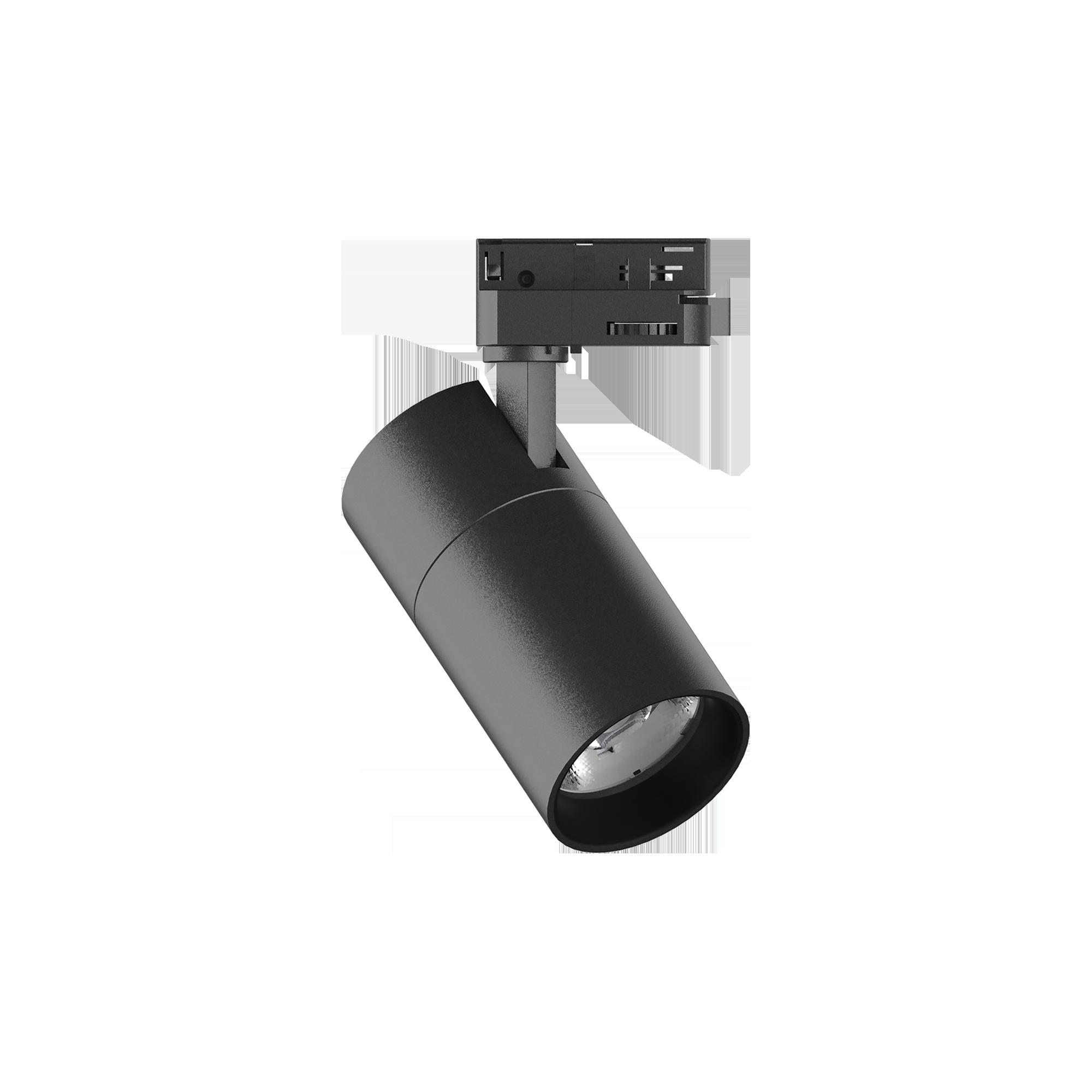Светодиодный светильник с регулировкой направления света для шинной системы Ideal Lux QUICK 15W CRI80 30° 4000K BK ON-OFF 222547 (QUICK 15W CRI80 30° 4000K BLACK), LED 15W 4000K 1800lm, черный, металл - фото 1