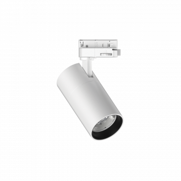 Светодиодный светильник с регулировкой направления света для шинной системы Ideal Lux QUICK 15W CRI90 30° 3000K WH ON-OFF 222554 (QUICK 15W CRI90 30° 3000K WHITE), LED 15W 3000K 1500lm, белый, металл