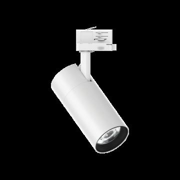 Светодиодный светильник с регулировкой направления света для шинной системы Ideal Lux QUICK 28W CRI80 30° 3000K WH ON-OFF 222615 (QUICK 28W CRI80 30° 3000K WHITE), LED 28W 3000K 3700lm, белый, металл