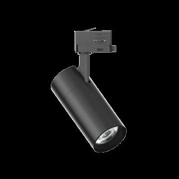 Светодиодный светильник с регулировкой направления света для шинной системы Ideal Lux QUICK 28W CRI80 30° 3000K BK ON-OFF 222622 (QUICK 28W CRI80 30° 3000K BLACK), LED 28W 3000K 3700lm, черный, металл