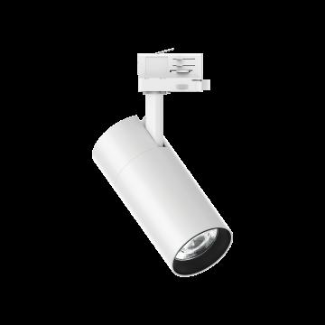 Светодиодный светильник с регулировкой направления света для шинной системы Ideal Lux QUICK 28W CRI90 30° 3000K WH ON-OFF 222653 (QUICK 28W CRI90 30° 3000K WHITE), LED 28W 3000K 3400lm, белый, металл