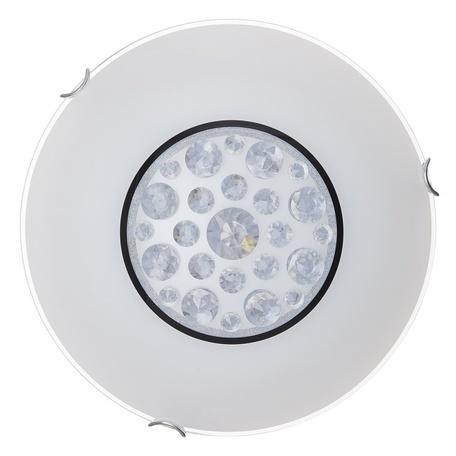 Потолочный светодиодный светильник Sonex Lakrima 228/DL, LED 48W 2360lm, хром, белый, металл, стекло - миниатюра 1
