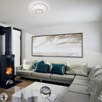 Потолочный светодиодный светильник Sonex Lakrima 228/DL, LED 48W 2360lm, хром, белый, металл, стекло - миниатюра 2