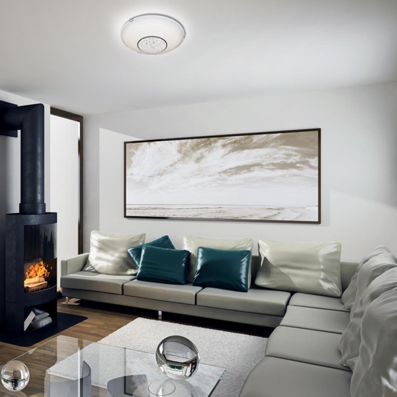 Потолочный светодиодный светильник Sonex Lakrima 228/DL, LED 48W 2360lm, хром, белый, металл, стекло - фото 2