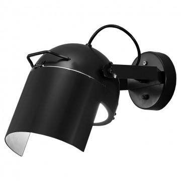 Настенный светильник с регулировкой направления света Lussole Loft Thornton LSP-9839, IP21, 1xGU10x50W, черный, металл