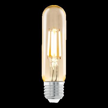 Филаментная светодиодная лампа Eglo 11554 цилиндр E27 3,5W, 2200K (теплый) CRI>80, гарантия 5 лет