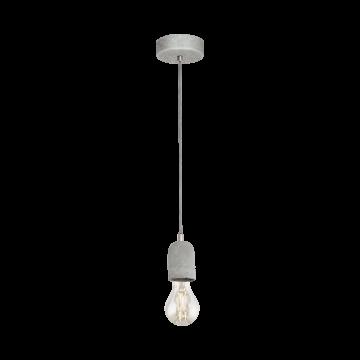 Подвесной светильник Eglo Silvares 95522, 1xE27x60W, серый, бетон, металл