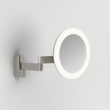 Косметическое зеркало со светодиодной подсветкой и увеличением Astro Niimi 1163003 (8323), IP44, LED 5,16W 3000K 43732lm CRI65, зеркальный, хром, металл, стекло