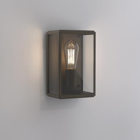 Настенный светильник Astro Homefield 1095029 (8217), IP44, 1xE27x60W, бронза, прозрачный, стекло