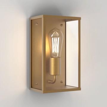 Настенный светильник Astro Homefield Coastal 1095032 (8299), IP44, 1xE27x60W, бронза, прозрачный, стекло