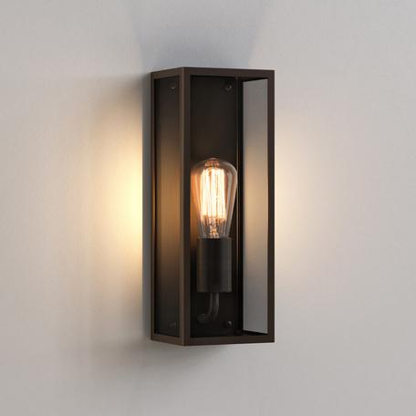 Настенный светильник Astro Messina 1183018 (8279), IP44, 1xE27x60W, бронза, прозрачный, стекло