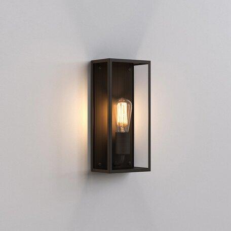 Настенный светильник Astro Messina 1183020 (8282), IP44, 1xE27x60W, бронза, стекло