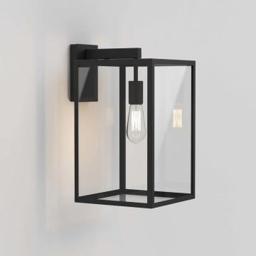 Настенный фонарь Astro Box 1354007 (8504), IP23, 1xE27x60W, черный, прозрачный, металл, стекло