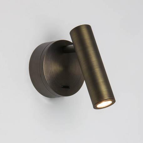 Настенный светодиодный светильник с регулировкой направления света Astro Enna 1058084 (8258), LED 4,5W 2700K 111lm CRI90, бронза, металл