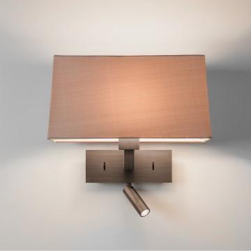 Основание бра с дополнительной подсветкой Astro Park Lane 1080051 (8264), 1xE27x60W + LED 2,2W 2700K 76lm CRI80, бронза, металл