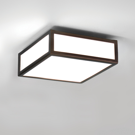 Потолочный светильник Astro Mashiko 1121056 (8227), IP44, 1xE27x60W, бронза, стекло