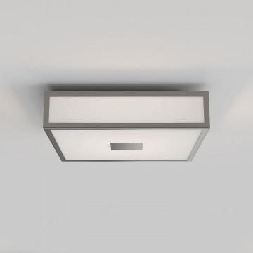Потолочный светодиодный светильник Astro Mashiko LED 1121071 (8533), IP44, LED 15,9W 2700K 981lm CRI>80, никель, стекло