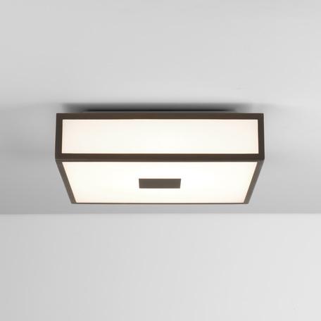 Потолочный светодиодный светильник Astro Mashiko 1121084 (8297), IP44, LED 16W 2700K 981lm, бронза, стекло
