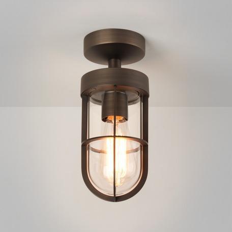 Потолочный светильник Astro Cabin 1368027 (8277), IP44, 1xE27x12W, бронза, прозрачный, металл, металл со стеклом